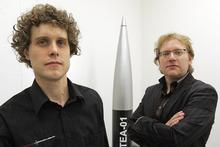 Peter Beck and Mark Rocket aim to make history by launching the first privately constructed rocket from the southern hemisphere. Photo / Doug Sherring