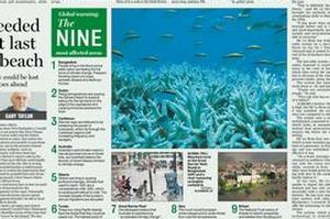 The article in last Monday's Herald about the nine most affected areas. Photo / NZ Herald