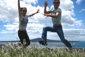 Sanna and I on Mt Victoria in Auckland. Photo / Matt Kennedy-Good