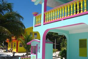 The tiny Caribbean island of Caye Caulker has cute and colourful buildings and the best reggae bars outside Jamaica. Photo / Supplied