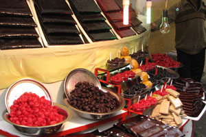 Fruit leather and preserved berries for sale at Darband. Photo / Jill Worrall