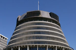 Wellington's Beehive has been named the third-ugliest building in the world by virtualtourist.com. Photo / Mark Mitchell