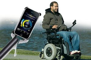 Innovative Christchurch company Dynamic Controls has integrated iPhone controls into its wheelchair electronics. Photo / Supplied