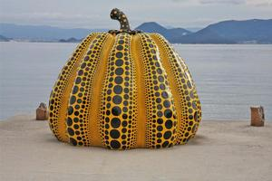 The renowned Pumpkin by Japanese artist Yayoi Kusama. Photo / Gail Orgias