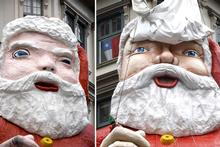 Santa last year (left) and his new look this year. Photos / Dean Purcell, Richard Robinson 