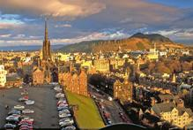 The view from Edinburgh Castle over the city to King Arthur's Seat. Photo / Supplied