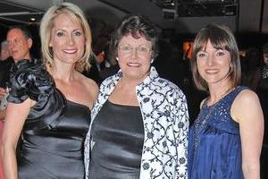 Karen Olsen , Jenny Goodwin and Louise Pagonis at the TVNZ 40th Birthday celebrations. Photo / Herald on Sunday
