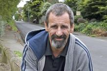 Lenny Holmwood on Napier's Chaucer Rd, where he saved the policemen's lives. Photo / Mark Mitchell