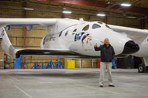 Sir Richard Branson is eyeing the continent-to continent potential of SpaceShipTwo. Photo / Supplied