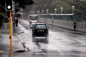 Cars on Grafton Bridge. Photo / Doug Sherring