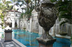 The swimming pool, decadent to the extreme, once had gold inlaid tiles. Photo / Supplied