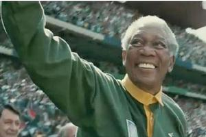Morgan Freeman (pictured) stars as Nelson Mandela in Clint Eastwood's new film about the 1995 Rugby World Cup  Invictus . Photo / Supplied