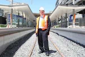 Andrew Finch says the station will be well lit and CCTV cameras will monitor it at all times. Photo / Greg Bowker