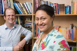 Phil Horobin and Linda Vagana from Duffy Books in Homes. Photo / Paul Estcourt