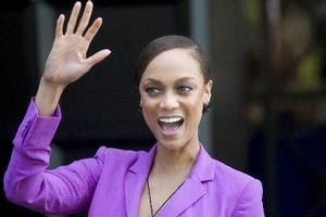 Tyra Banks leaves the B.I.O Diversity Summit at the Wharf Auckland. Photo / Richard Robinson