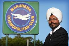 Karnail Singh outside the Manurewa Cosmopolitan Club yesterday. Photo / Greg Bowker