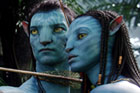 Actors Sam Worthington and Zoe Saldana portray Jake Sully (L) and Na'vi princess Neytiri (R) in Avatar. Photo / Supplied