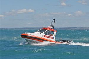 The exhausted family was rescued mid-morning by the Wanganui coastguard. Photo / Wanganui Chronicle
