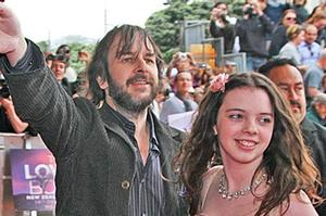 Director Peter Jackson and daughter Katie greet crowds at the Wellington premiere of The Lovely Bones. Photo / Getty Images