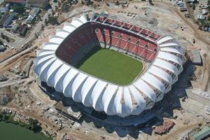 Mbombela Stadium in Nelspruit, venue for the All Whites' World Cup match against Italy.