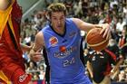 Dillon Boucher presses forward during the Breakers' win over the Tigers. Photo / Getty Images