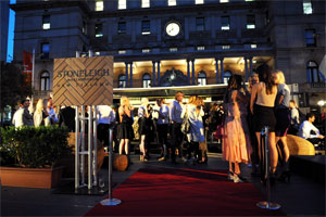Stoneleigh's pop up bar in Sydney is set up in a shipping container which can be moved from city to city. Photo / Supplied