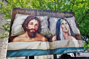 Archdeacon Glynn Cardy says he has no regrets about the controversial billboard and is glad it provoked discussion. Photo / Sarah Ivey