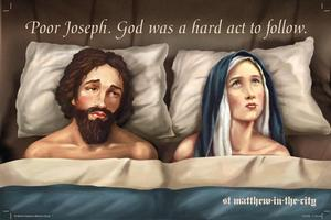 The billboard of Joseph and Mary caused an outcry. Photo / Sarah Ivey