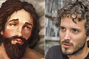 Lookalikes: Joseph from that billboard and Bret McKenzie from Flight of the Conchords. Photos / Mark Mitchell, supplied