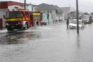 Flooding in Dannevirke earlier this month. Photo / Hawkes Bay Today