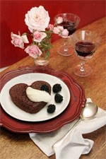 Chocolate cake is a decadent and sensuous way to end a Valentine's Day dinner for two.  Photo / Janna Dixon