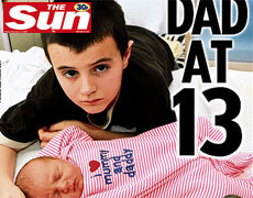 Alfie Patten, 13, and his baby daughter Maisie.