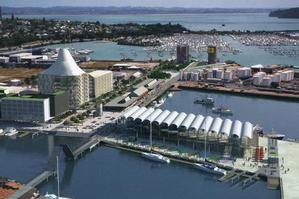 An artist's impression of the ASB building, with cone roof, on the waterfront in Auckland. Photo / Supplied