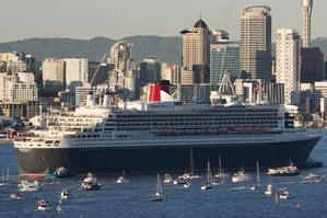 The Queen Mary 2 makes her maiden visit to New Zealand in 2007. Photo / Greg Bowker