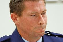 An upset Constable Karl Pennington wept as he gave evidence yesterday. Photo / Brett Phibbs