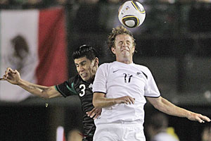 The All Whites have gone down 2-0 to Mexico in an international friendly in Los Angeles. Photo / AP