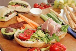 Put out a range of seasonal fillings and let kids make their own rolls - Subway style. Photo / Herald on Sunday