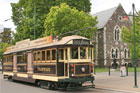 The city tram in Christchurch. Photo / Jim Eagles