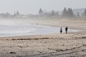 Most people stayed off beaches at summer hotspots like Mount Maunganui today, although some chose to ignore tsunami warnings. Photo / Christine Cornege