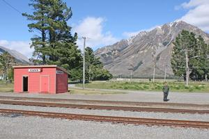 Barrie Drummond is the only ganger at the alpine station. Photo / NZ Herald