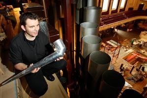 German restorer Philipp Klais's company spent two years rebuilding the Town Hall organ. Photo / Brett Phibbs