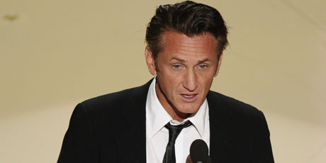 Sean Penn's speech as he presented the Best Actress award left some scratching their heads. Photo / AP