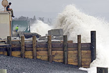 Locals reported one wave was higher than a house. Photo / NZPA