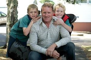Derek Sampson can fit his work around sons Thomas, 10, and Henry, 7. Photo / Herald on Sunday