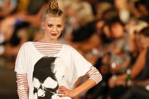 A model at the NZ Fashion Festival. Photo / Steven McNicholl