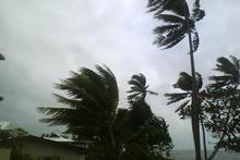 High winds blow through Suva this morning, as the cyclone approaches. Photo / Courtland Lee