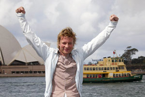 Jamie Oliver is in Sydney to launch his 'Ministry of Food' cooking school concept. Photo / Supplied
