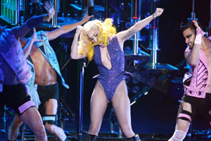 Lady Gaga made a total of 16 costume changes during her Vector Arena show. Photo / Herald on Sunday