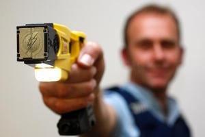The police district covering much of Taranaki has been allocated 76 Taser units. Photo / Christine Cornege