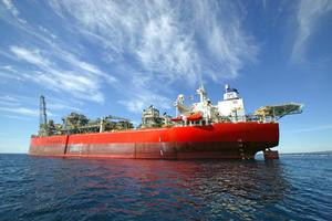 The Tui oil field's Umuroa production vessel. Oil was New Zealand's third biggest earner in 2008, bringing in $2.8 billion. Photo / Supplied